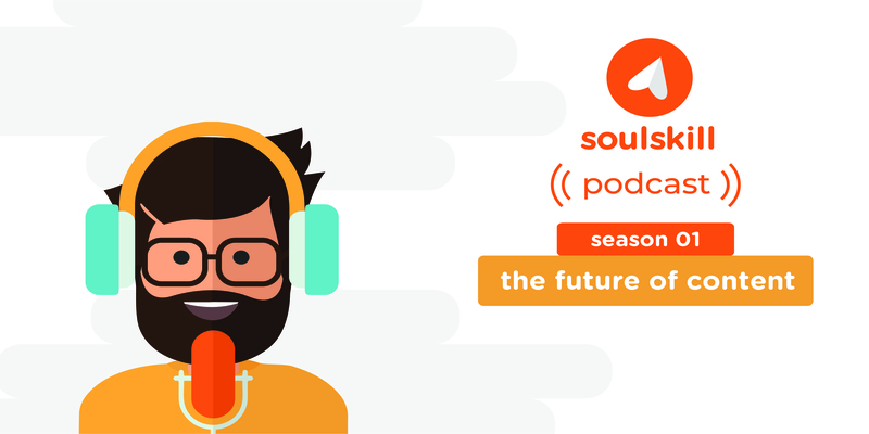 An animation of a podcast speaker