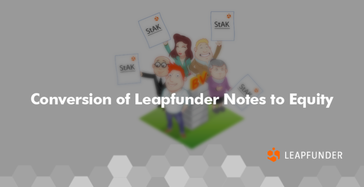 Conversion of Leapfunder Notes to Equity