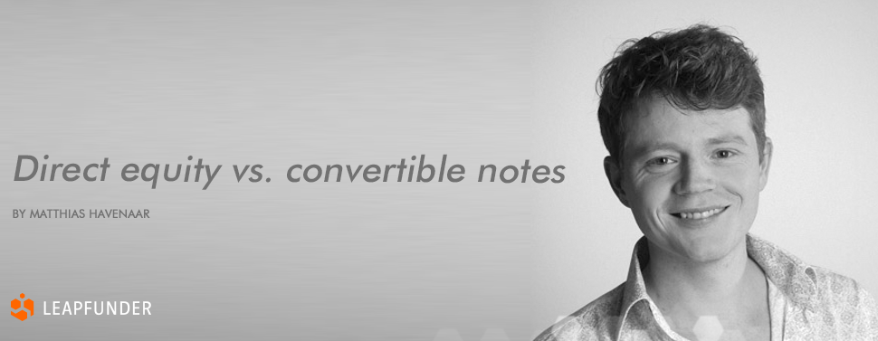 Equity vs. convertible notes